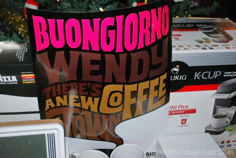lavazza coffee poster blogger gift