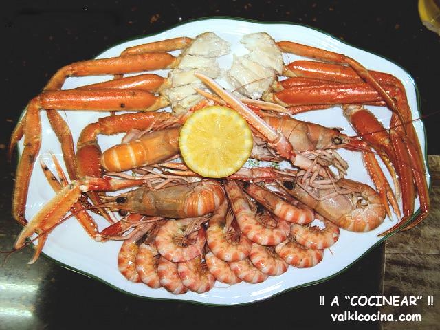 Cocción de marisco pequeño