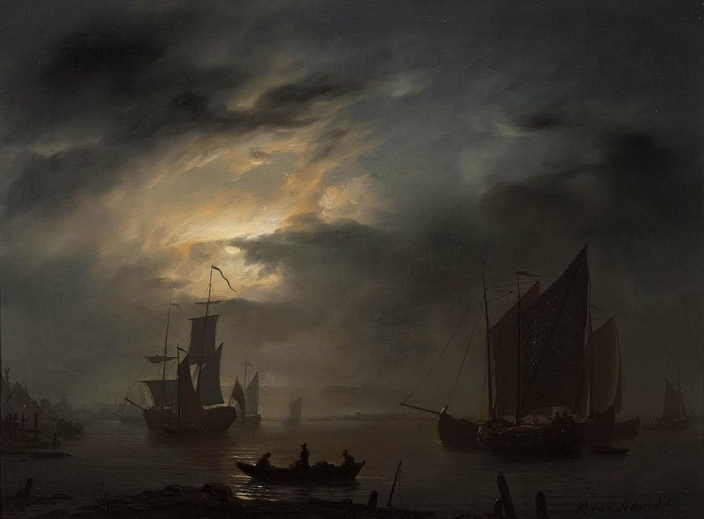 Mar Noturno - Petrus van Schendel e suas pinturas ~ Especialista em cena noturna
