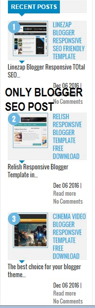 Top 15 Coolest Recent Post Widget For Blogger
