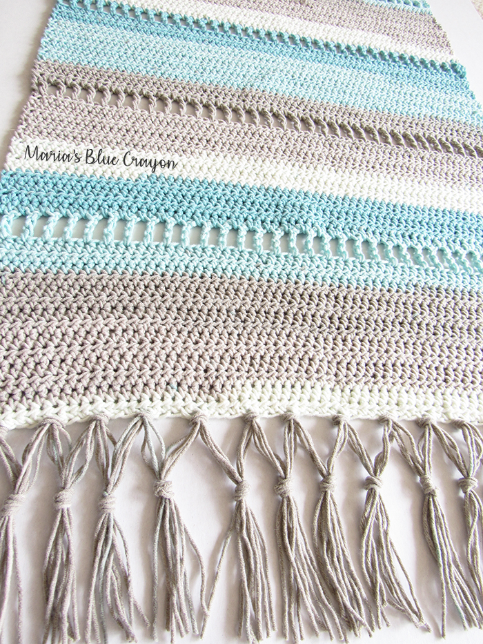 Coastal Indoor Rug Free Crochet Pattern Made With Caron Cotton Cool Cotton Crochet Patterns