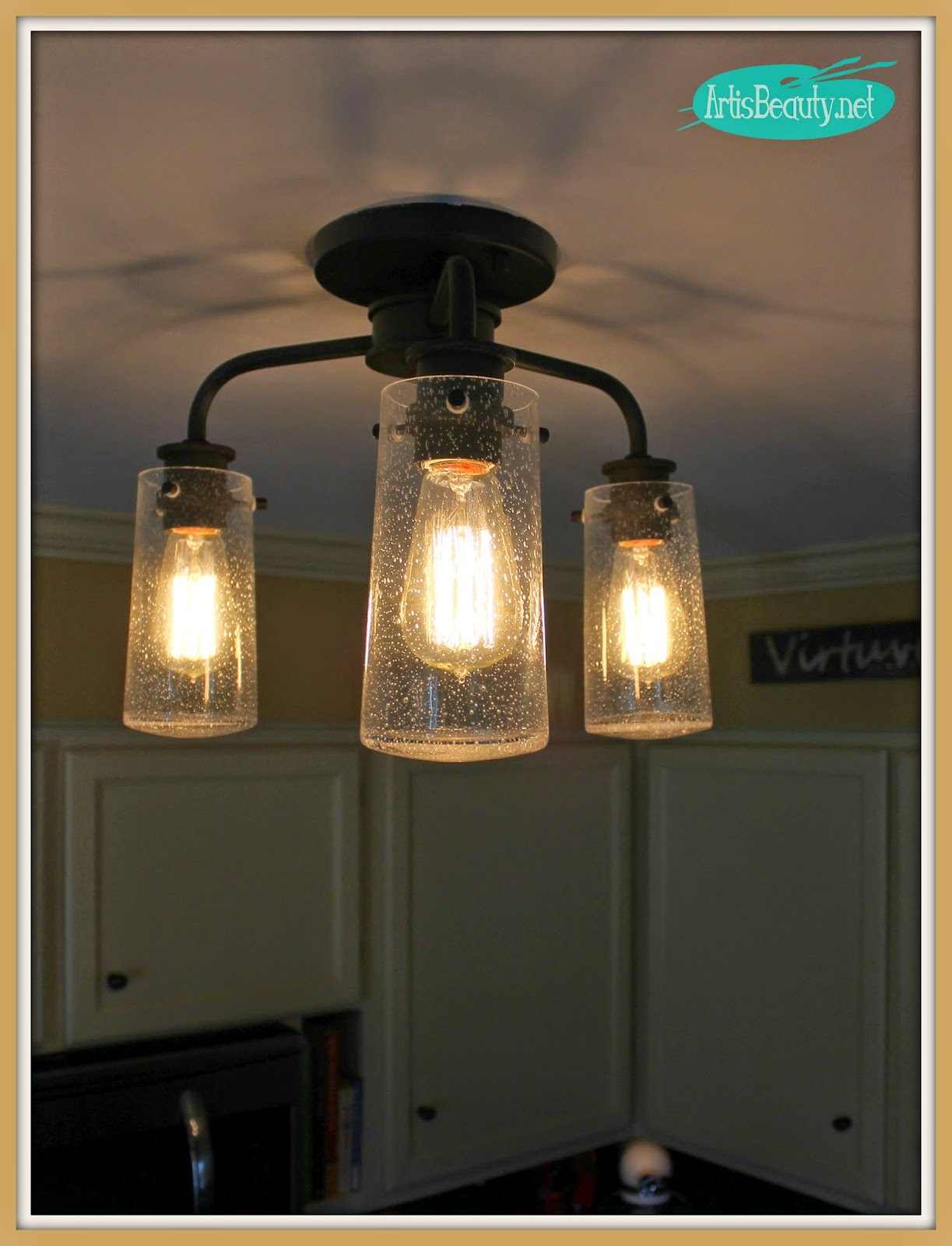 vintage style kitchen lighting. ART IS BEAUTY: Vintage Style Kitchen Lighting Update! Buh Bye Boob Light! U