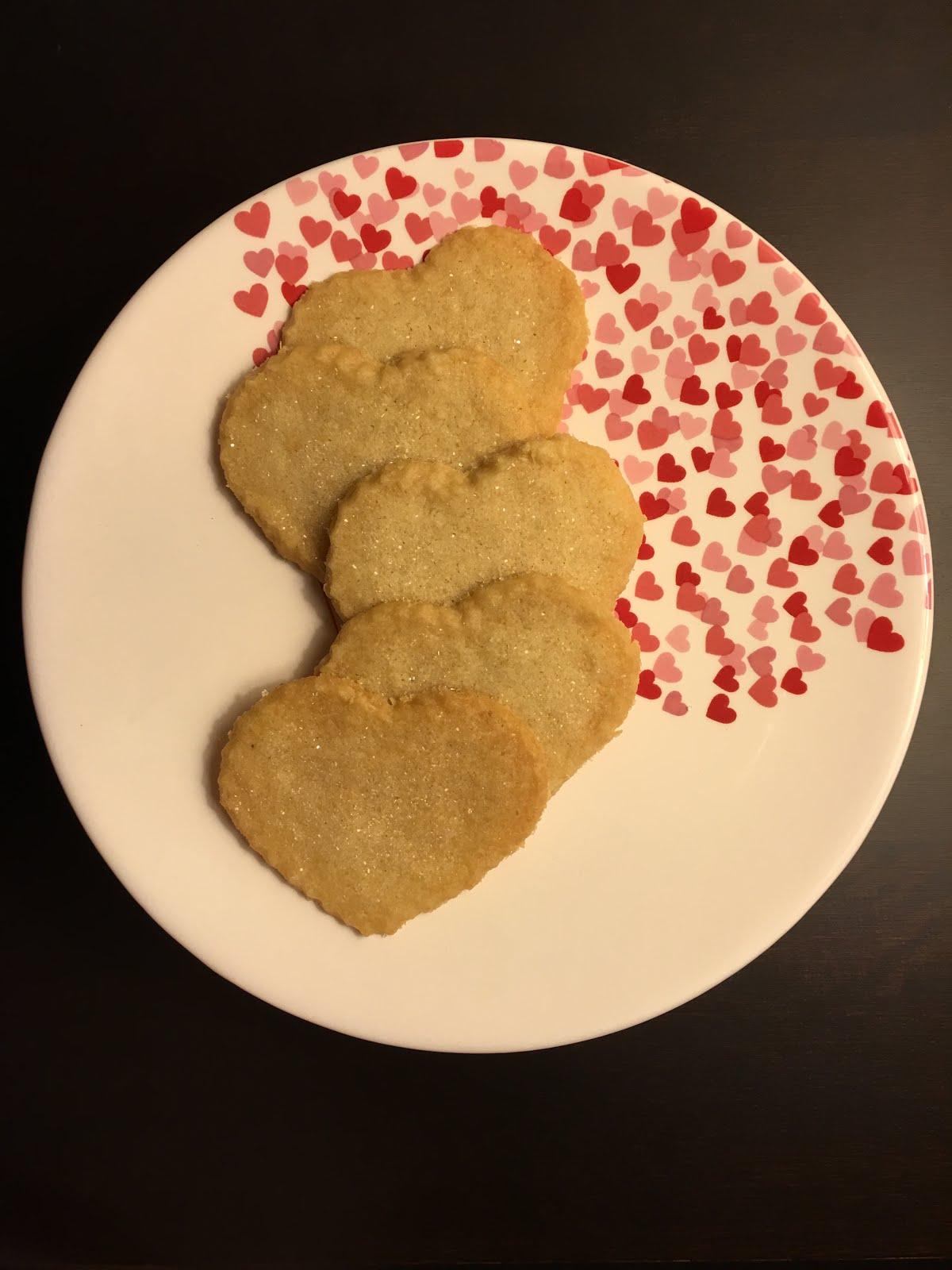 Coconut Shortbread Hearts