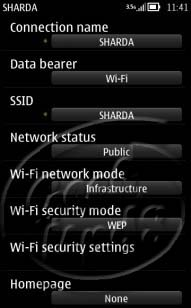 Nokia Access Point Settings