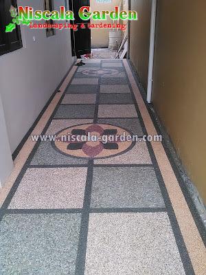 Aneka Motif Batu Sikat / Batu Ampyang / Lantai Carport