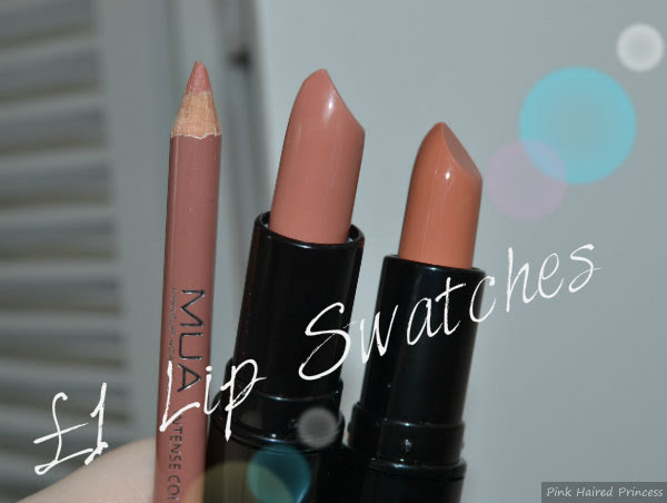 mua and makeup revolution nude lip swatches