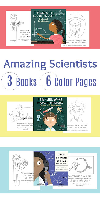 Printable Amazing Scientist Coloring Pages