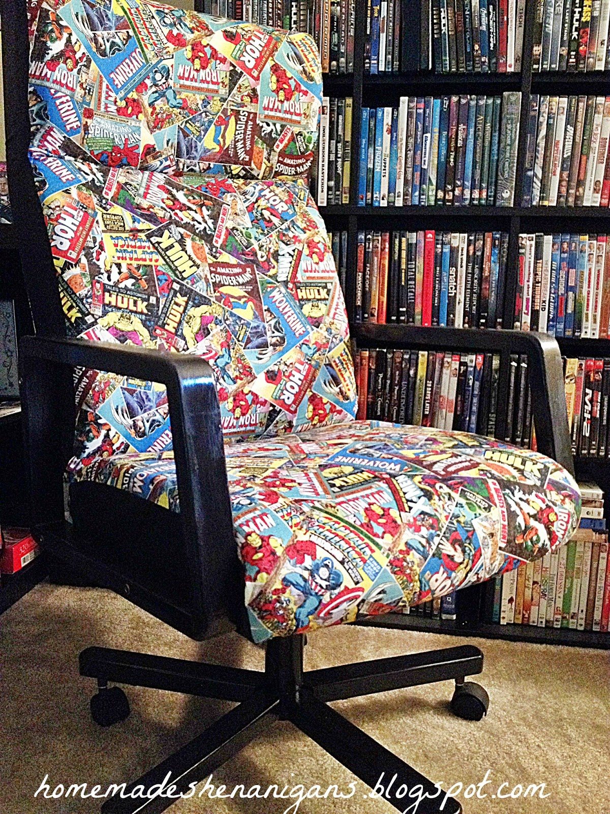 Homemade Shenanigans Superhero Desk Chair