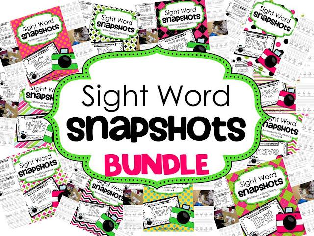 Teaching Blog Round Up Sight Word Snapshots