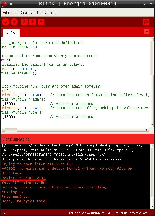 MSP-EXP430G2 Launchpad: быстрый старт в Linux