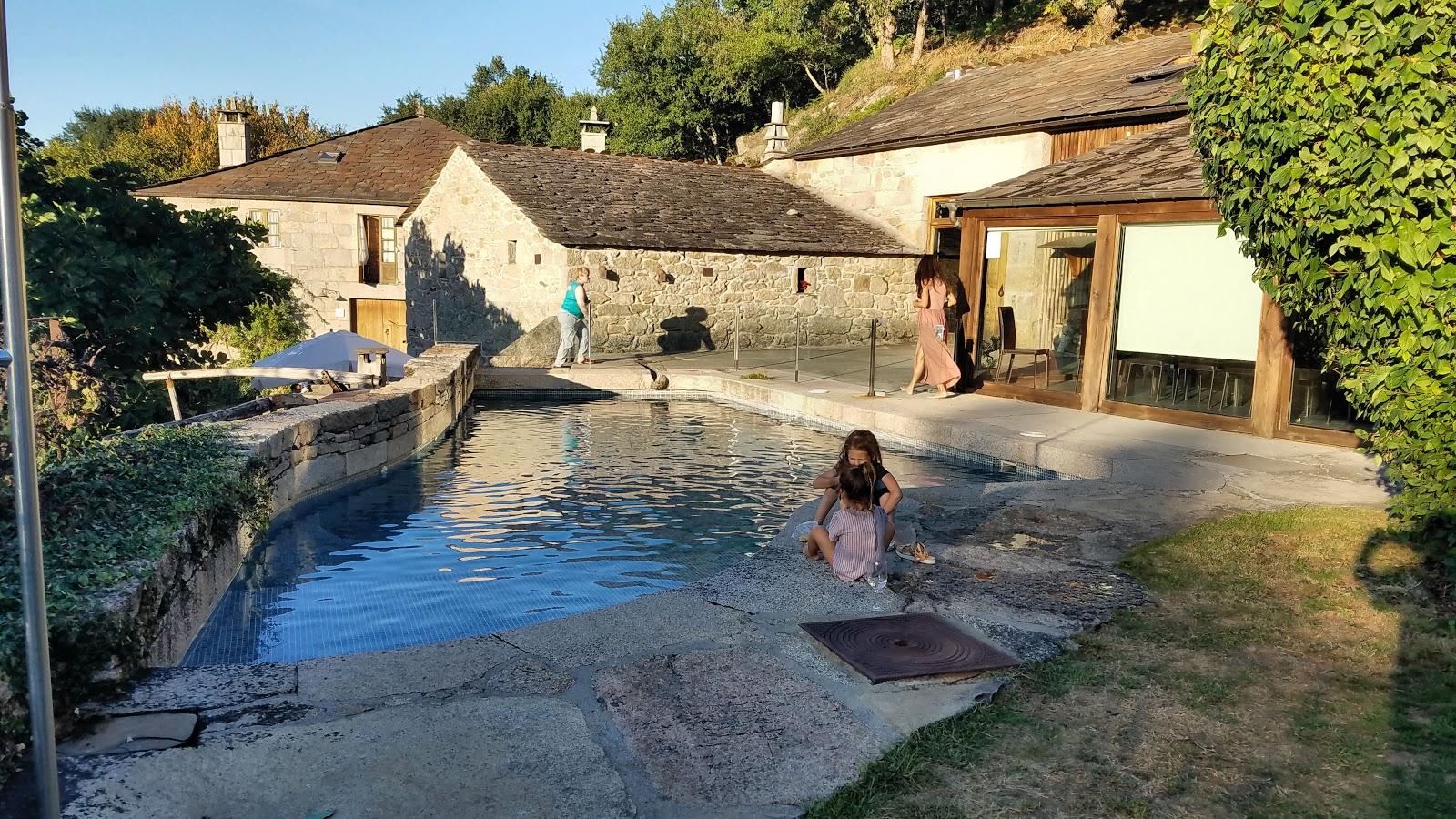 The pool area at the Fervenza Casa Grande outside Palas de Rei.
