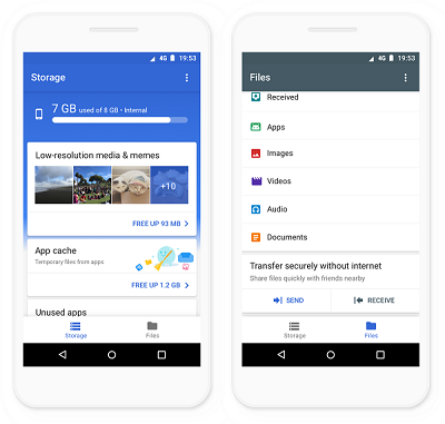 Google releases Files Go app that helps you free up space on your phone