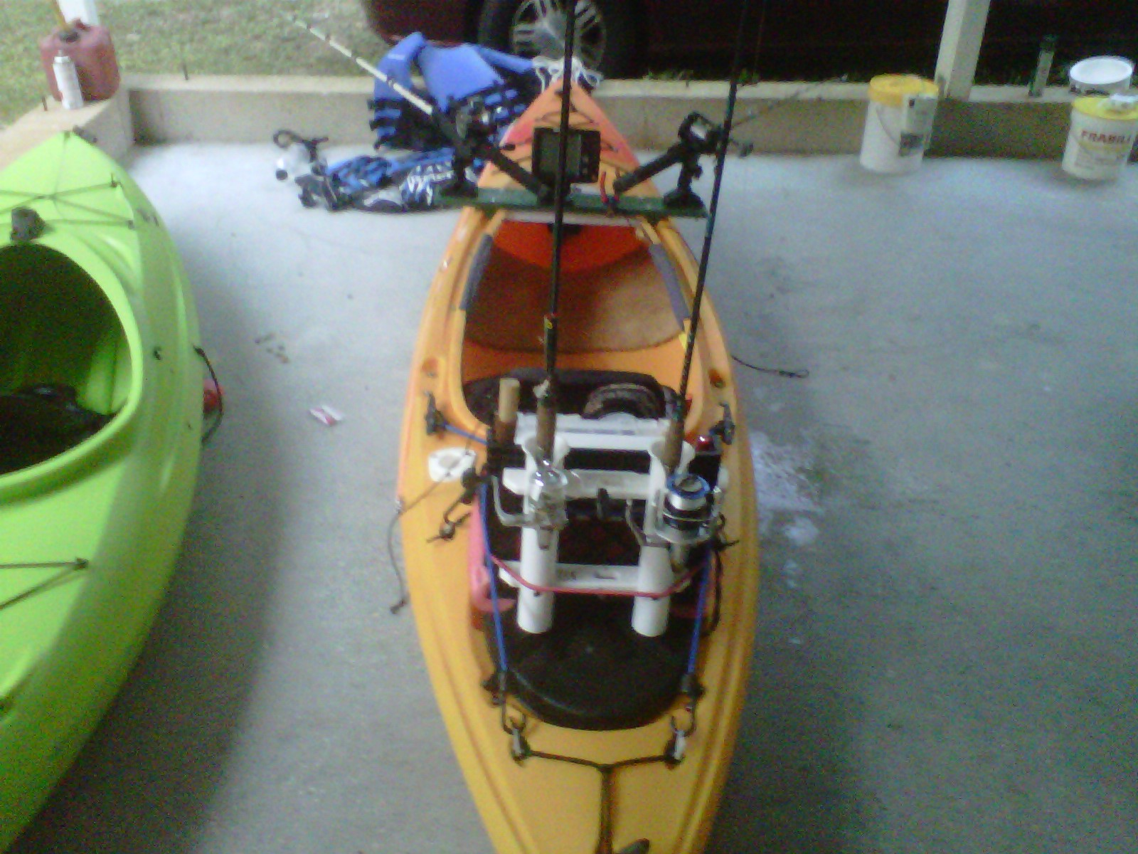Tight lines and plastic boats rigging a sit inside kayak for Sit on vs sit in kayak for fishing