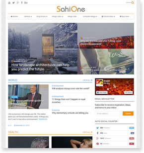 SahiOne - News WordPress Theme