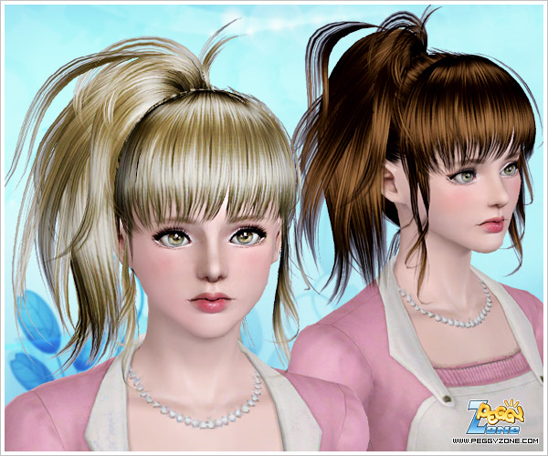 Hair Style Zone: My Sims 3 Blog: Peggy 760 & 761 Hair For Females