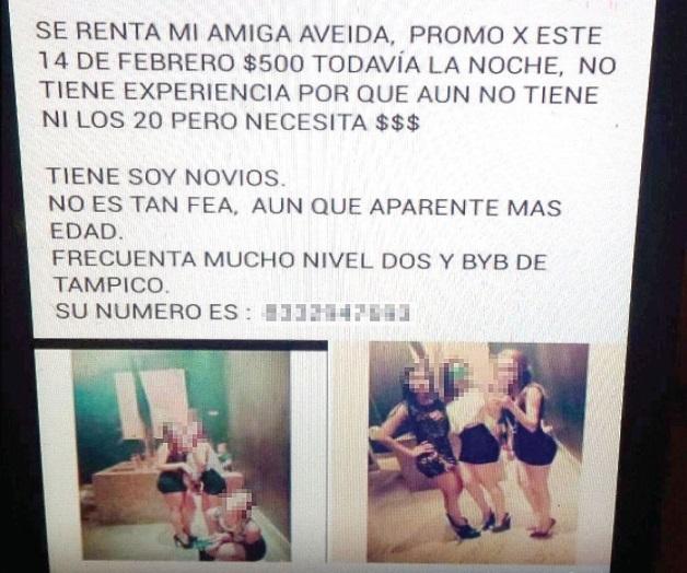 Venden a jovenes en Tamaulipas por Redes sociales