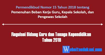 Kumpulan Regulasi Bidang Guru dan Tenaga Kependidikan 2018