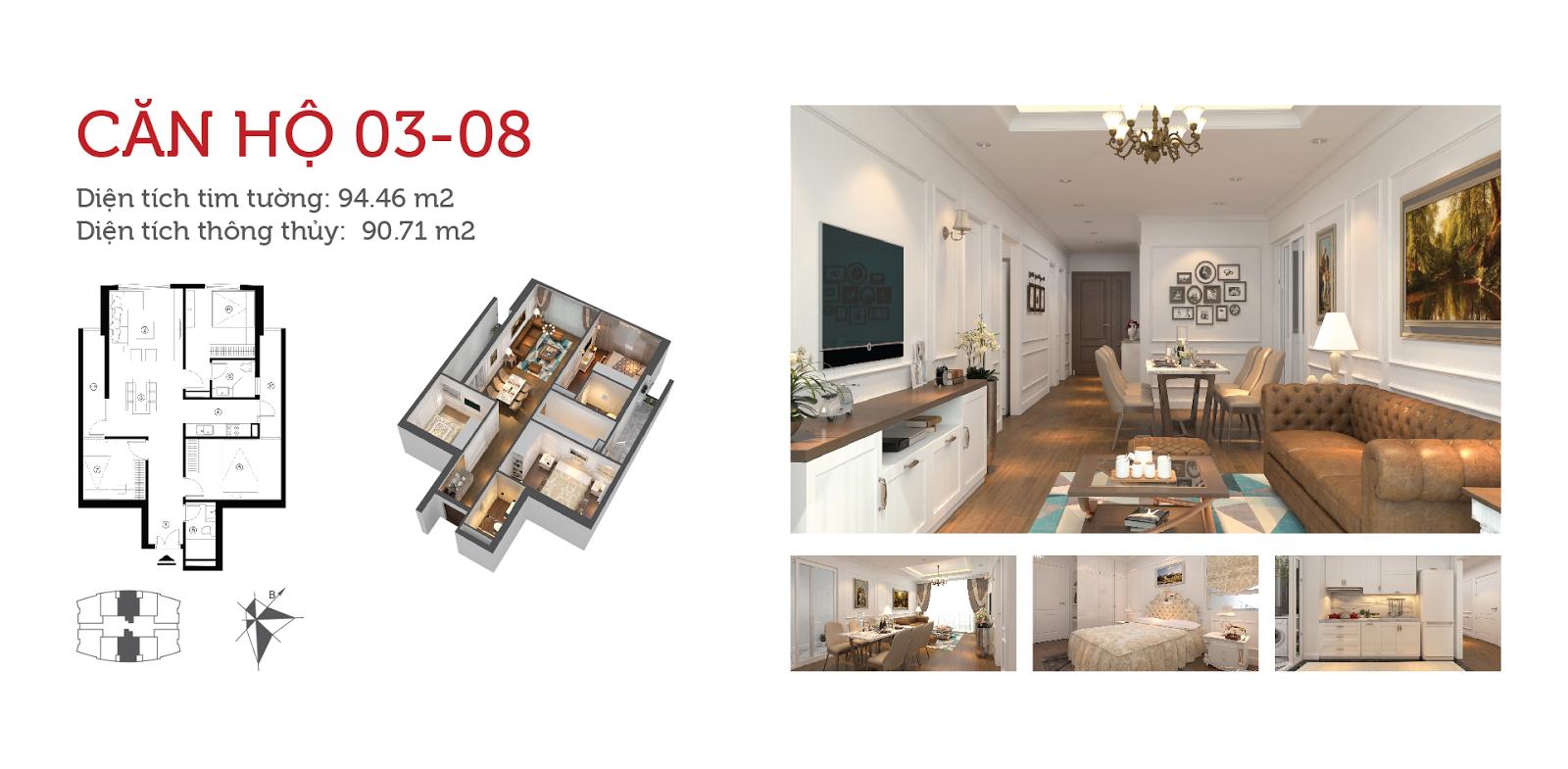Chi tiết căn hộ dự án Imperial Plaza Giai Phong