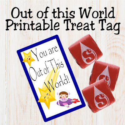 Out of this World Printable Treat Tag