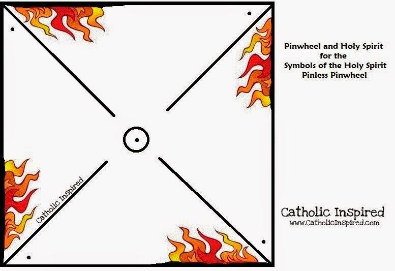 pentecost pin less pinwheel symbol of fire and wind catholic