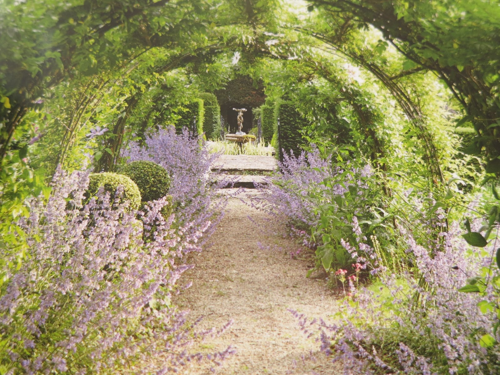 Loose and Leafy photo of photo of Pergola at Eastleach House in Secret Gardens of the Cotswolds