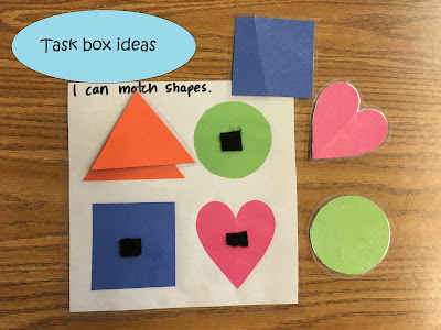 Quick and easy task box ideas for special education