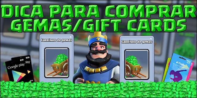 Compre Gift Cards e Gemas, pague com boleto!