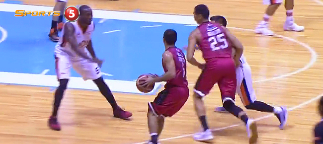 Japeth Aguilar's Block Leads to a LA Tenorio Three in Game 5 (VIDEO)
