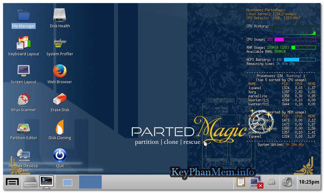 Download Parted Magic 2018.04.30 Final ISO Boot Full,Đĩa Boot cứu hộ và phục hồi hệ thống đẳng cấp