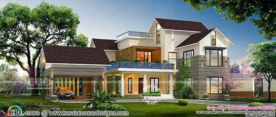 3500 square feet 5 bedroom house design