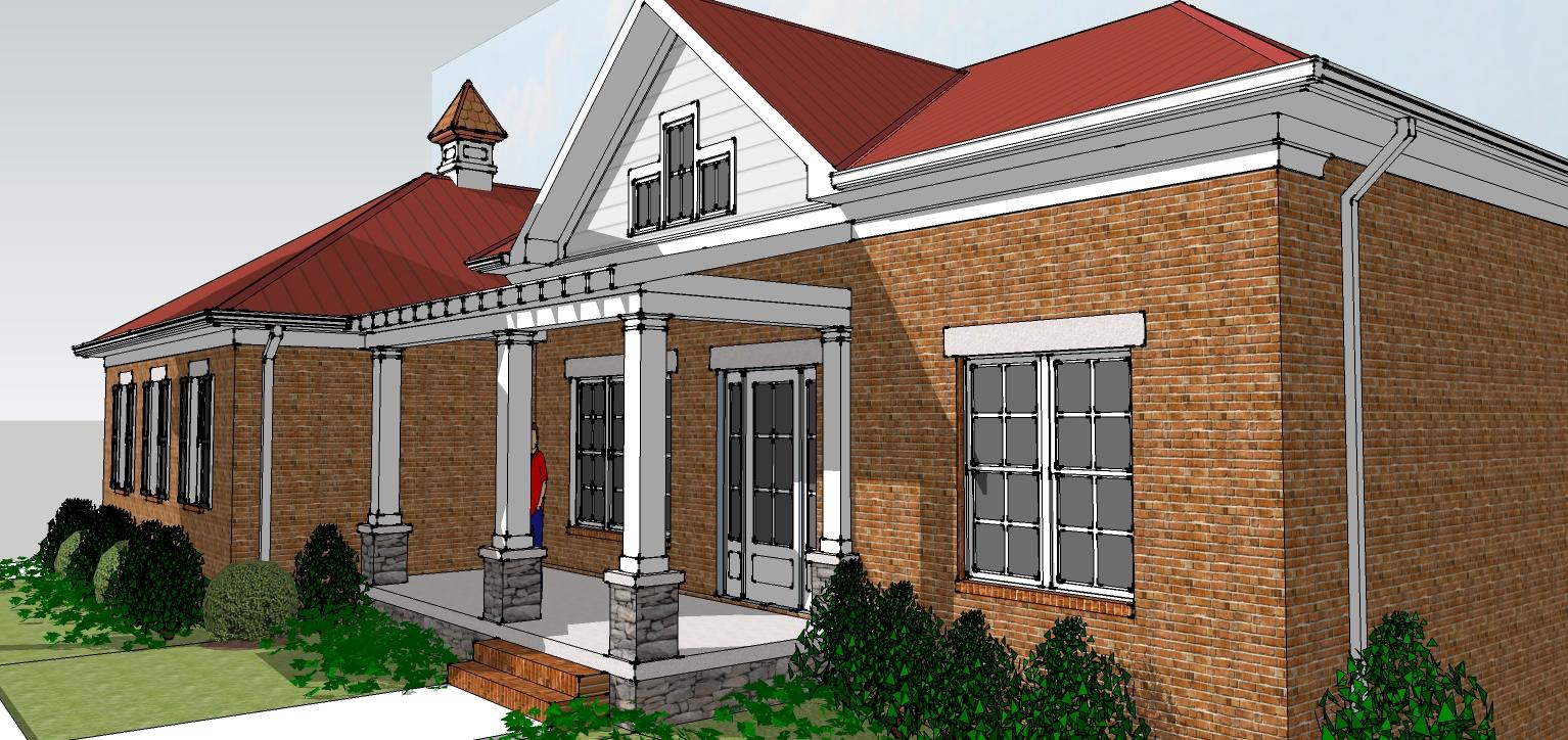 Hindsight home design design progress in google sketchup for Google house design