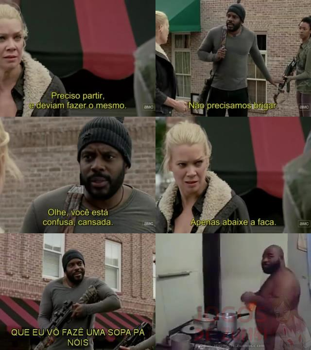 Tyreese acalmando a Andrea
