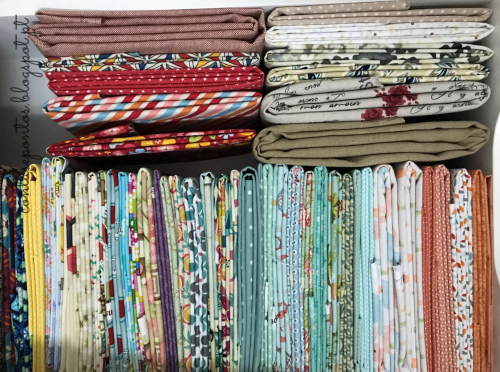Craft room - arrumar tecidos