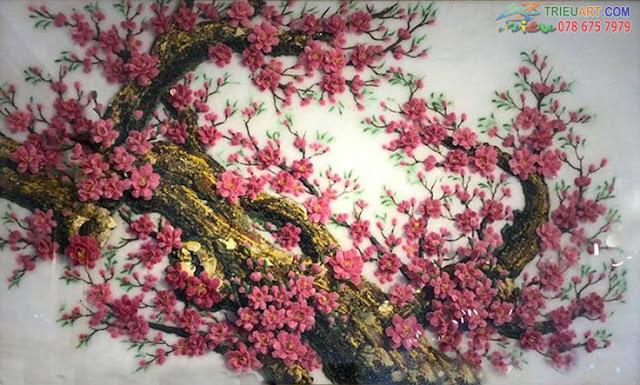 tranh hoa đào