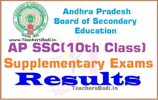 AP SSC,Supplementary Exams,Results