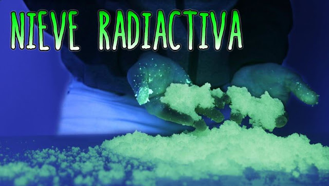 experimento, nieve, radiactiva