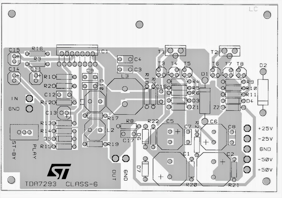 32w Hi Fi Audio Amplifier With Tda2050 Circuit Diagram