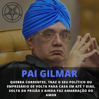 Gilmar Mendes pai de santo