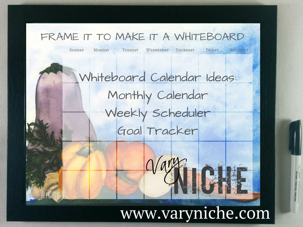 Whiteboard Calendar Ideas : Vary niche making the most of your whiteboard calendar