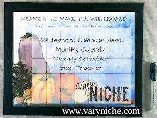 Vary Niche Fine Art Whiteboard Calendar tips and use ideas.