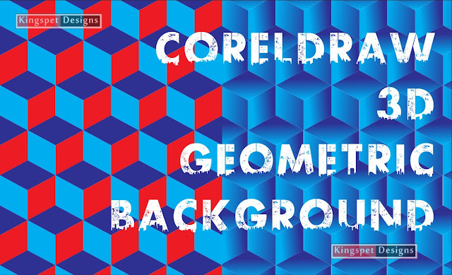 CorelDRAW 3d Geometric Background and Wall Papers Design