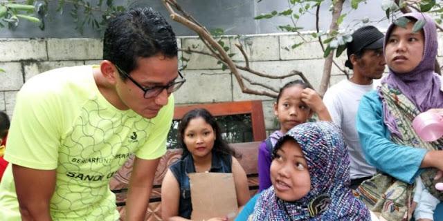 Sandiaga Bantah Ikuti Bakti Sosial Dalam Rangka Kampanye
