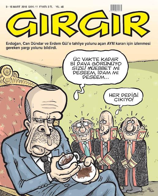 Gırgır Dergisi - 9-15 Mart 2016 Kapak Karikatürü