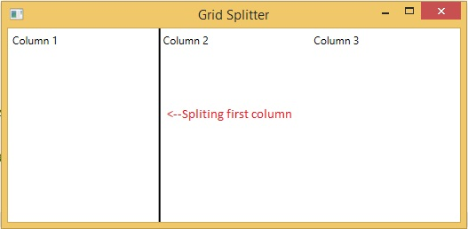 Status Twitter Blog: Split Columns using GridSplitter