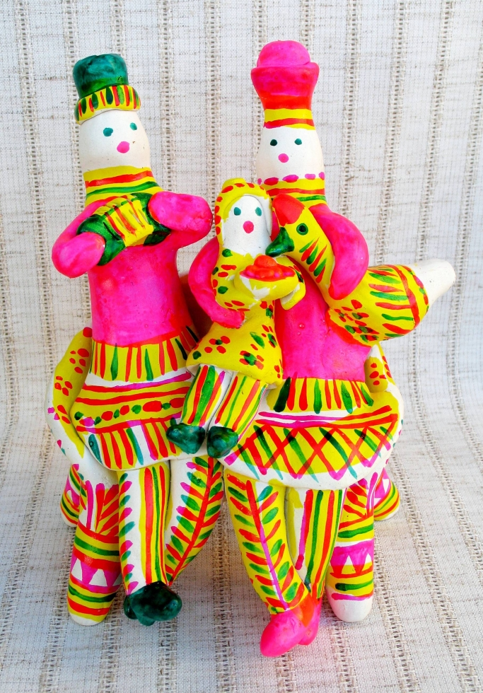 Folk ceramic figurines from Russia, Filimonovo toy