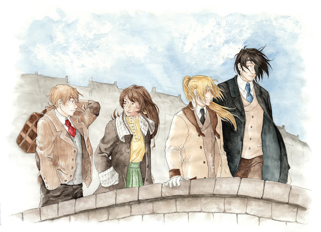 fanart de Edward, Alphonse, Roy et Noah de Fullmetal Alchemist - Sweet Suicide