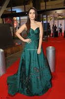 Raashi Khanna in Dark Green Sleeveless Strapless Deep neck Gown at 64th Jio Filmfare Awards South ~  Exclusive 164.JPG