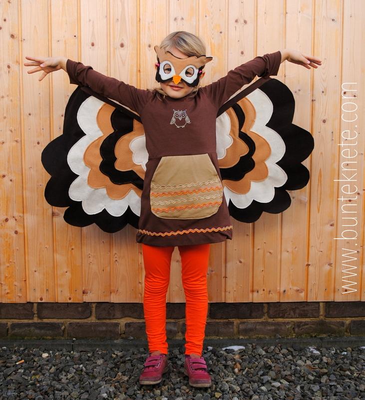 Kostümparty Eule | Bunte Knete von Frl. Päng | Bloglovin\'
