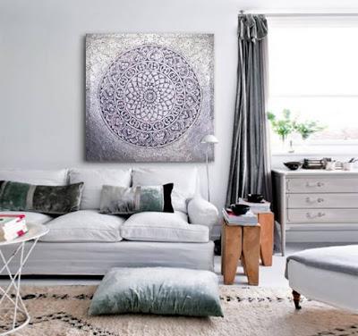 cuadros plateados decoracion