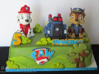 bolo patrulha pata bragança